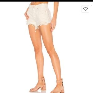 Free People Cut Off Shorts Worn White NWT